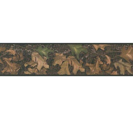 """Room Mates Studio Designs Mossy Oak Camo 15' x 5"""" Botanical Border Wallpaper"""