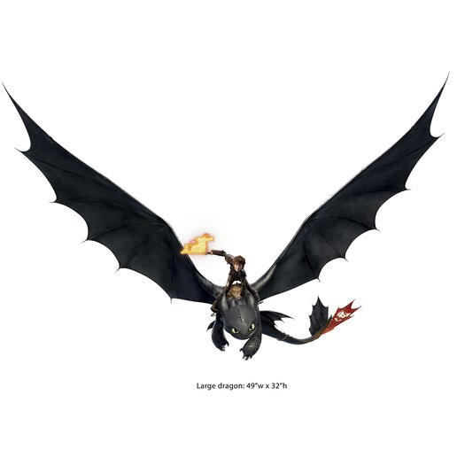 Room Mates How to Train Your Dragon 2 Hiccup and Toothless Giant Wall Decal