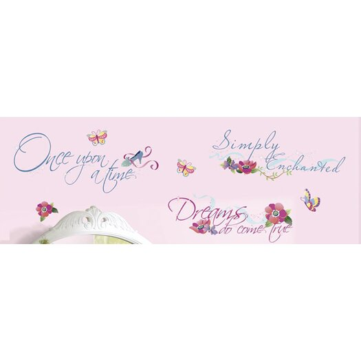 Room Mates Princess Quotes Wall Decal
