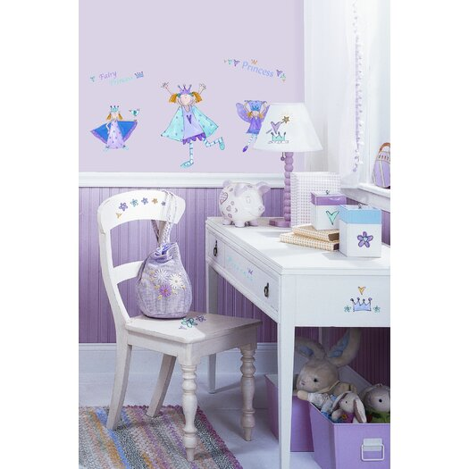 Room Mates Studio Designs 23 Piece Fairy Princess Wall Decal