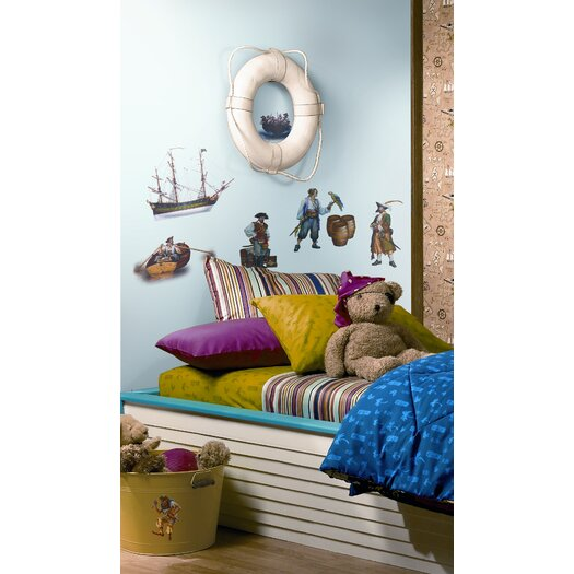 Room Mates Studio Designs 17 Piece Pirate Wall Decal