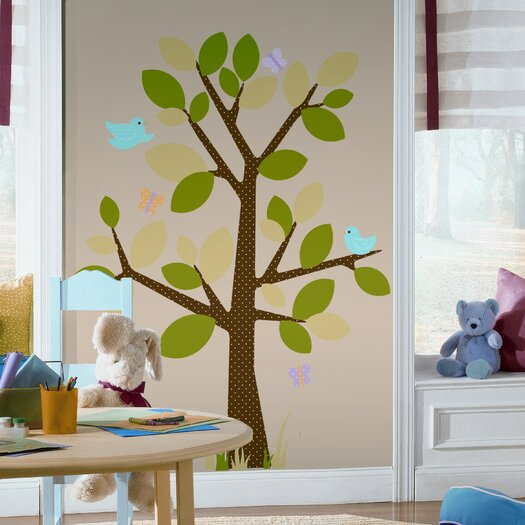 Room Mates Studio Designs 48 Piece Dotted Tree Wall Decal