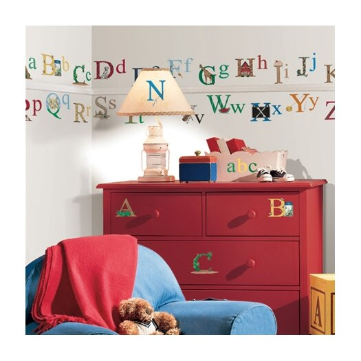 Room Mates Studio Designs 73 Piece Alphabet Wall Decal