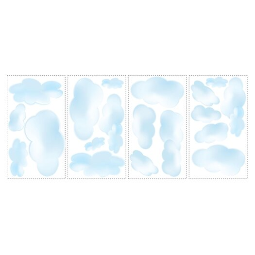 Room Mates Studio Designs 19 Piece Clouds Wall Decal
