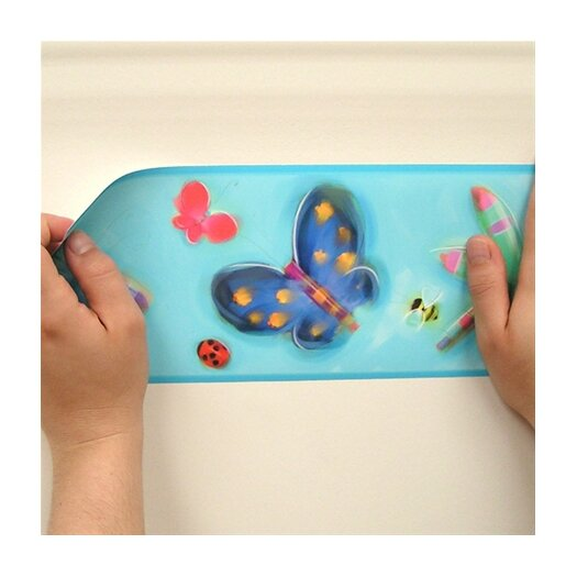 "Room Mates Studio Designs Jelly Bugs Peel and Stick 15' x 5"" Butterflies Border Wallpaper"
