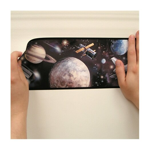 "Room Mates Studio Designs Space Travel 15' x 5"" Border Wallpaper"
