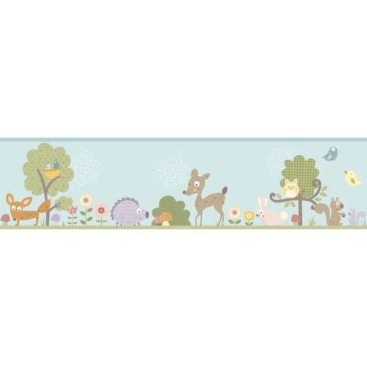 "Room Mates Studio Designs Woodland Animals 15' x 9"" Wildlife Border Wallpaper"