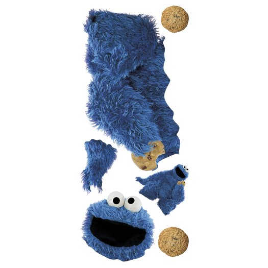 Room Mates Sesame Street Licensed Designs Cookie Monster Giant Wall Decal