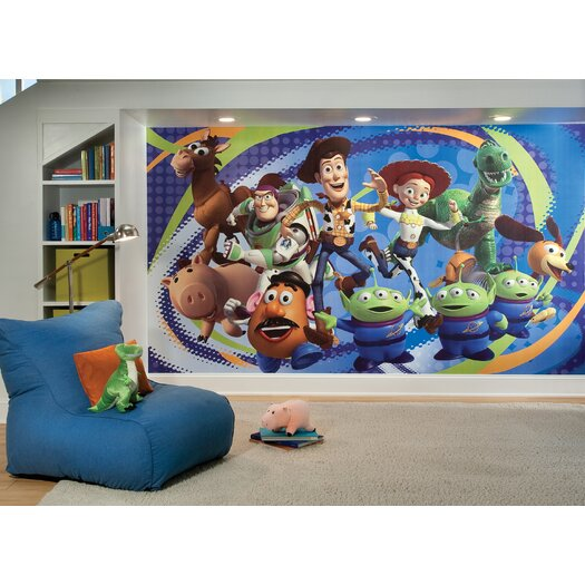 """Room Mates Extra Large Murals Toy Story 3 10.5' x 72"""" Wallpaper"""