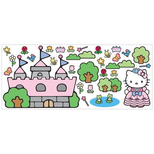 Room Mates Favorite Characters 31 Piece Hello Kitty Princess Castle Giant Wall Decal