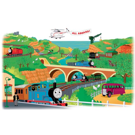 Room Mates Favorite Characters 2 Piece Thomas and Friends Giant Wall Mural