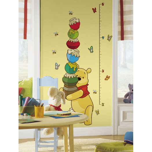Room Mates Licensed Designs Pooh Growth Chart