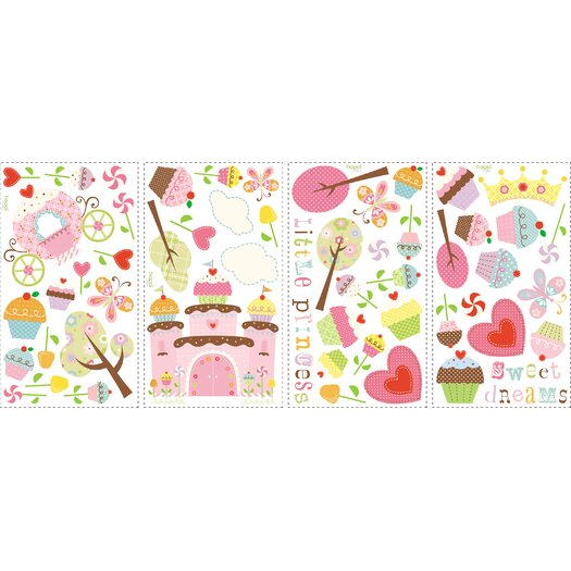 Room Mates Room Mates Deco 56 Piece Happi Cupcake Wall Decal