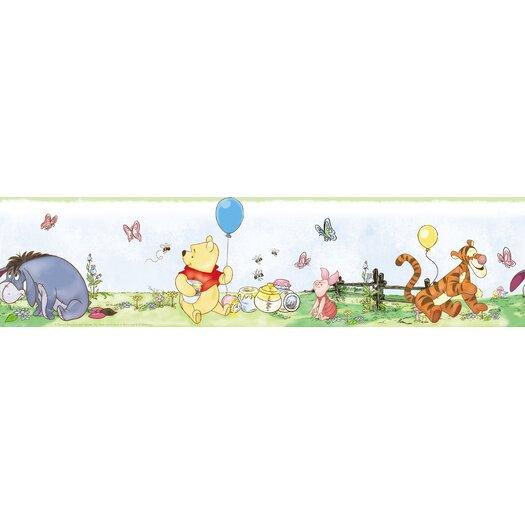 "Room Mates Winnie The Pooh Toddler 9' x 1.5"" Border Wallpaper"