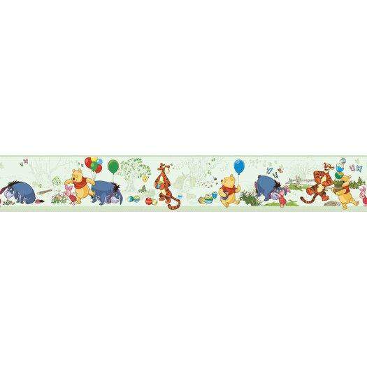 """Room Mates Room Mates Deco Winnie The Pooh 10' x 1.5"""" Border Wallpaper"""