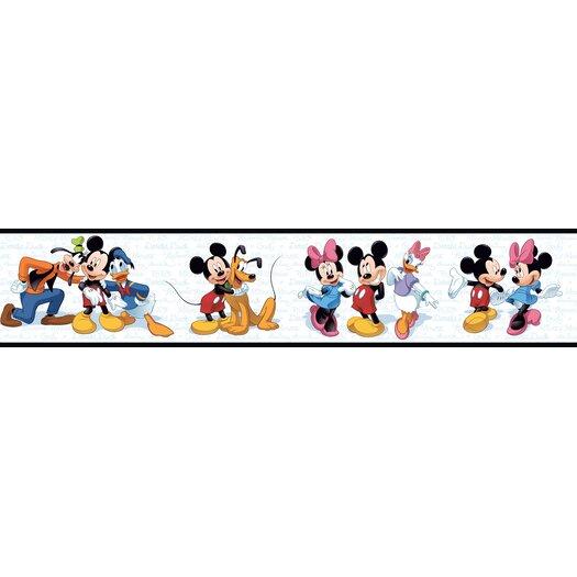 "Room Mates Room Mates Deco Mickey and Friends 9' x 1.5"" Border Wallpaper"