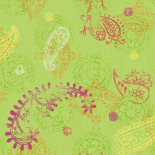 "Room Mates Room Mates Deco 20.5' x 24"" Paisley Wallpaper"