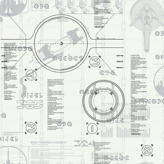 "Room Mates Tron Legacy 33' x 20.5"" Wallpaper"