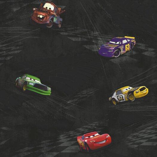 """Room Mates Room Mates Deco Cars Racing 33' x 20.5"""" Scenic Wallpaper"""