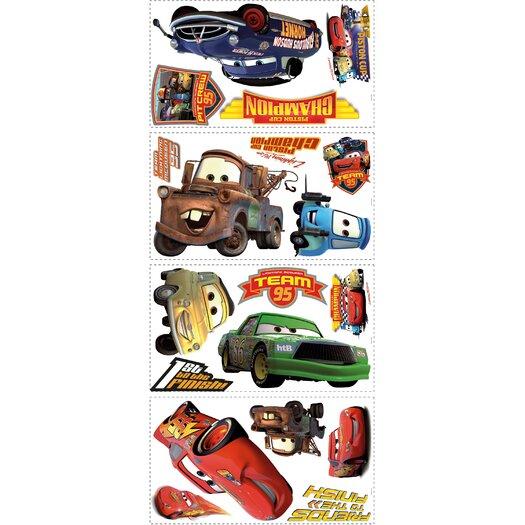 Room Mates 19 Piece Disney Pixar Cars Piston Cup Champs Wall Decal Set