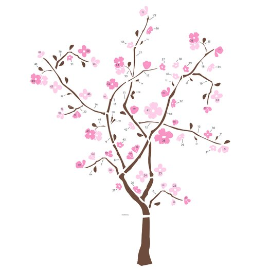 Room Mates Deco 105 Piece Spring Blossom Giant Wall Decal