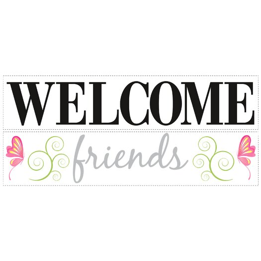 Room Mates Deco Welcome Friends Wall Decal