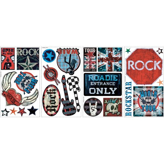 Room Mates Studio Designs Boys Rock-N-Roll Wall Decal