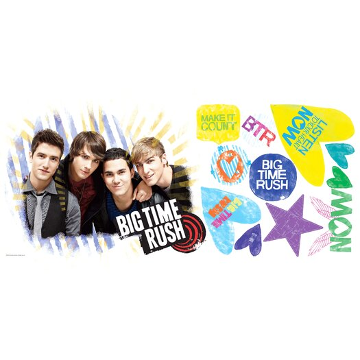 Room Mates Popular Characters Big Time Rush Giant Wall Decal