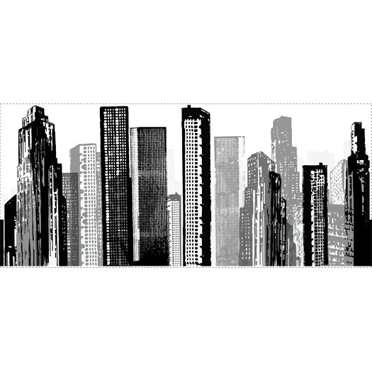 Room Mates Cityscape Giant Wall Mural