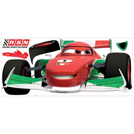 Room Mates Popular Characters Cars 2 Francesco Giant Wall Decal