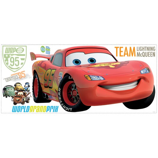 Room Mates Popular Characters 106 Piece Cars 2 Lightening Giant Wall Decal