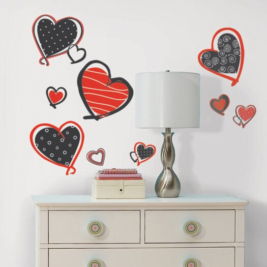 Room Mates Studio Designs Mod Heart Wall Decal