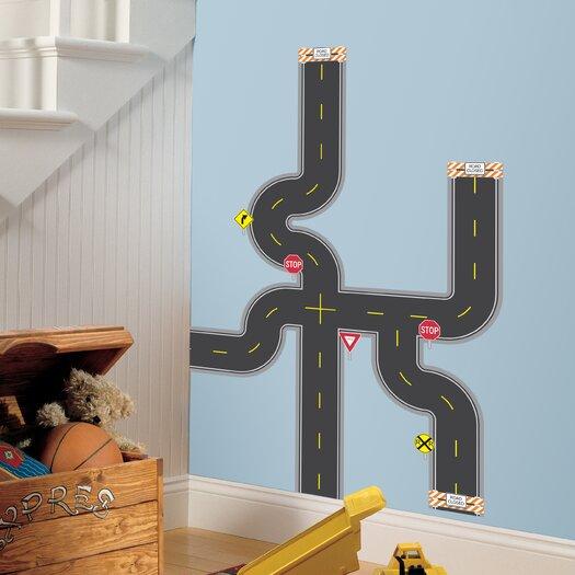 Room Mates Studio Designs 30 Piece Build-A-Road Wall Decal