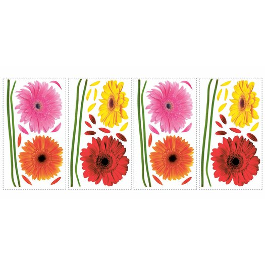 Room Mates Deco Gerber Daisies Wall Decal
