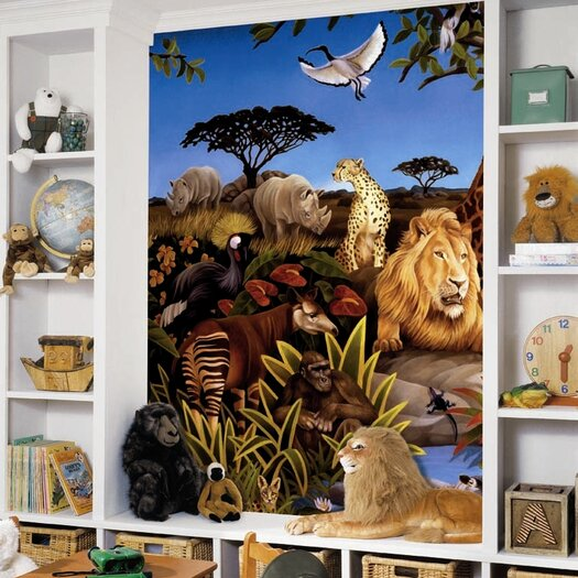 Room Mates Jungle Prepasted Wall Mural