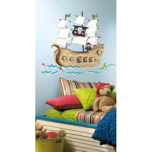 Room Mates Studio Designs Pirate Ship Giant Wall Decal