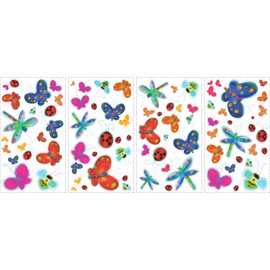 Room Mates Studio Designs 51 Piece Jelly Bugs Wall Decal