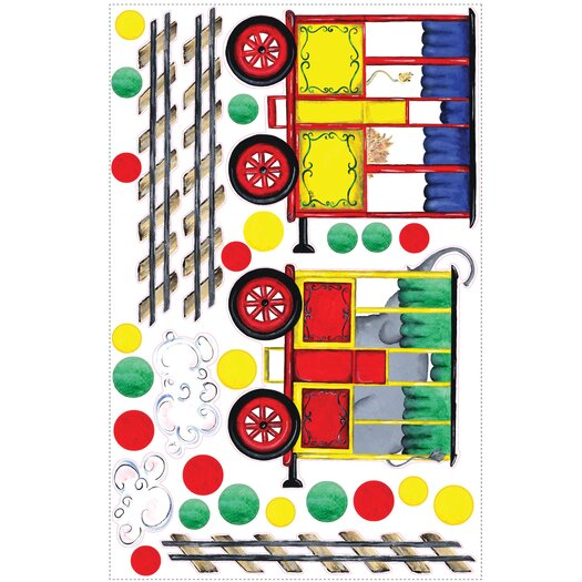 Room Mates Megapacks 57 Piece All Aboard Wall Decal