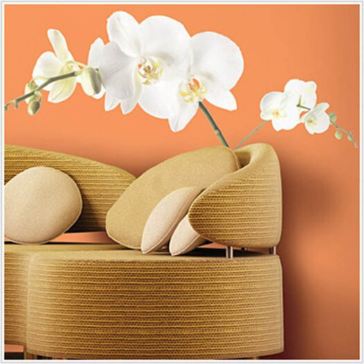 Room Mates Room Mates Deco 3 Piece White Orchid Wall Decal