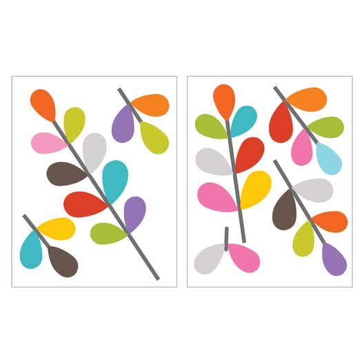 Room Mates Mia and Co African Flowers Wall Decal