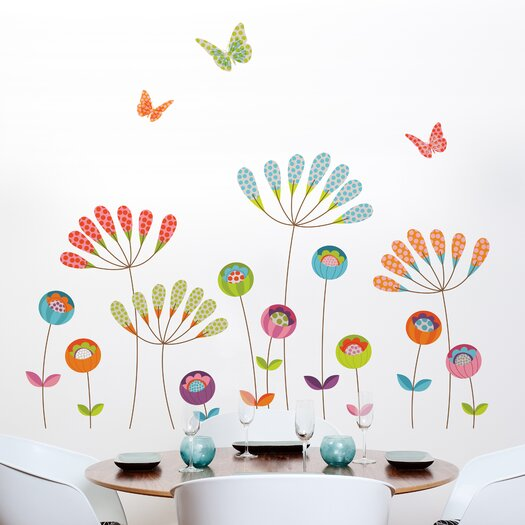 Room Mates Mia and Co Pompoms Wall Decal