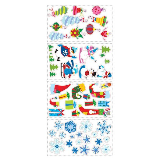 Room Mates Seasonal 53 Piece Let It Snow Wall Decal