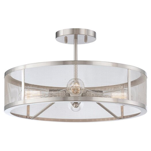 Minka Lavery Downtown Edison 4 Light Semi-Flush Mount