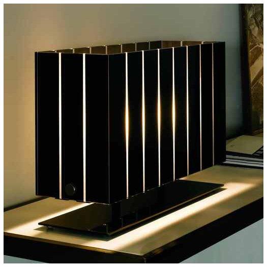 "Oluce Pin Stripe 15"" H Table Lamp with Rectangular Shade"