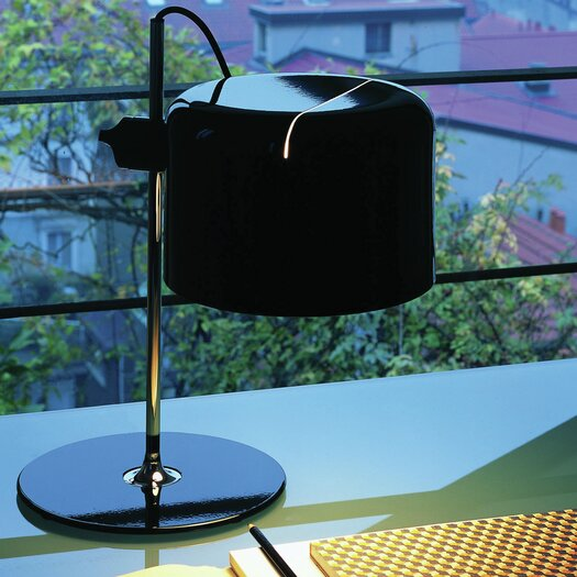 """Oluce Coupé 15.7"""" H Table Lamp with Drum Shade"""