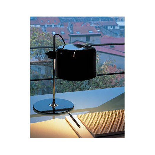 "Oluce Coupé 15.7"" H Table Lamp with Drum Shade"