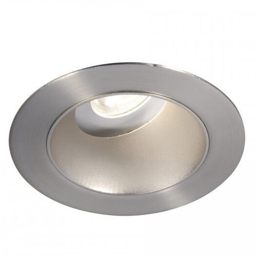"WAC Lighting LED Downlight Adjustable Open Round 3"" Recessed Trim with 28 Degree Beam Angle"