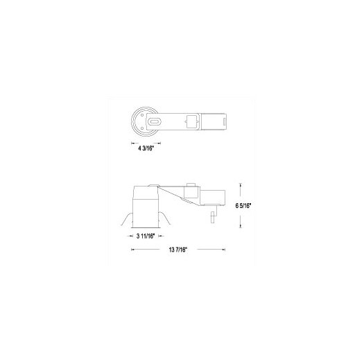 """WAC Lighting Series Non-IC Remodeling 3"""" Recessed Housing"""