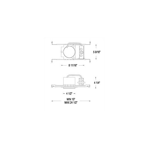 """WAC Lighting Low Voltage New Construction 4"""" Recessed Housing"""