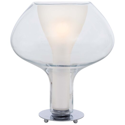 """George Kovacs by Minka Soft 18"""" H Table Lamp with Bowl Shade"""